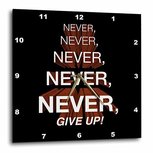壁掛け時計 インテリア 海外モデル アメリカ 輸入 3dRose Winston Churchill Motivational Quote. Never, Give Up. - Wall Clock, 15 by 15-Inch (DPP_172015_3)壁掛け時計 インテリア 海外モデル アメリカ 輸入