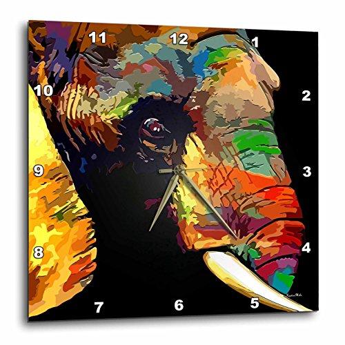 壁掛け時計 インテリア 海外モデル アメリカ 輸入 3dRose Abstract Elephant Art with Beautiful Natural Colors Wall Clock, 15 x 15壁掛け時計 インテリア 海外モデル アメリカ 輸入