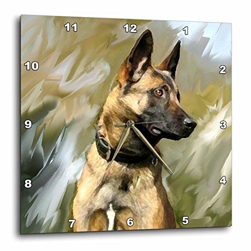 壁掛け時計 インテリア 海外モデル アメリカ 輸入 3dRose DPP_4385_3 Belgian Malinois-Wall Clock, 15 by 15-Inch壁掛け時計 インテリア 海外モデル アメリカ 輸入