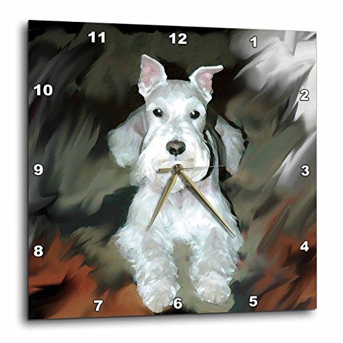 壁掛け時計 インテリア 海外モデル アメリカ 輸入 3dRose dpp_4827_3 White Schnauzer-Wall Clock, 15 by 15-Inch壁掛け時計 インテリア 海外モデル アメリカ 輸入