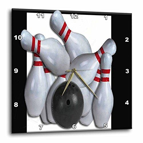 壁掛け時計 インテリア 海外モデル アメリカ 輸入 3dRose dpp_16304_3 Bowling Ball and Pins-Wall Clock, 15 by 15-Inch壁掛け時計 インテリア 海外モデル アメリカ 輸入