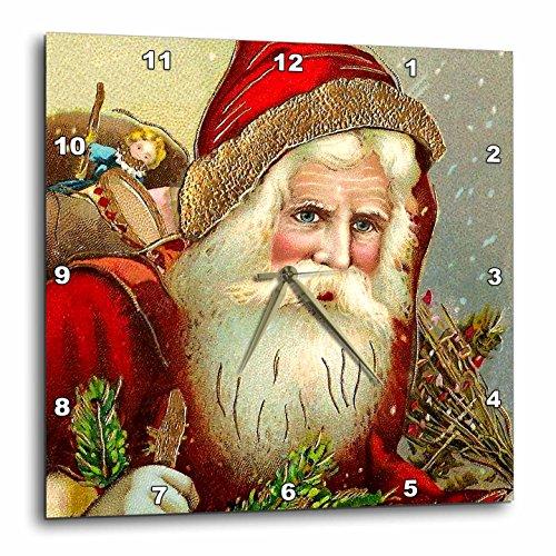 壁掛け時計 インテリア 海外モデル アメリカ 輸入 3dRose DPP_171463_3 Vintage Santa Claus with Sack Full of Toys Wall Clock, 15 by 15-Inch壁掛け時計 インテリア 海外モデル アメリカ 輸入