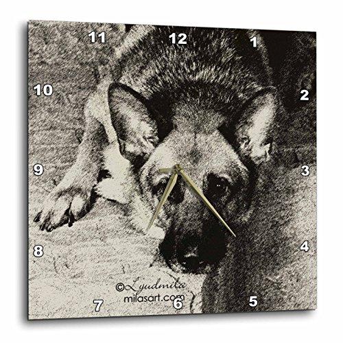 壁掛け時計 インテリア 海外モデル アメリカ 輸入 3dRose dpp_4620_3 German Shepherd-Wall Clock, 15 by 15-Inch壁掛け時計 インテリア 海外モデル アメリカ 輸入