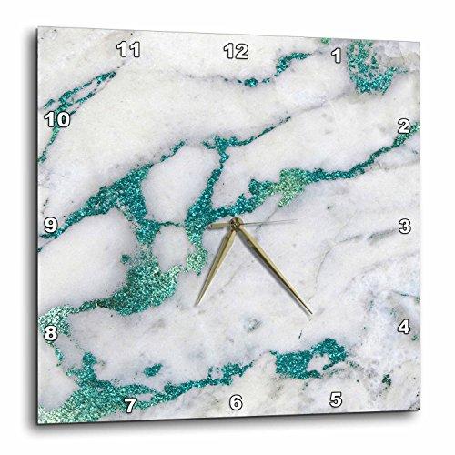 壁掛け時計 インテリア 海外モデル アメリカ 輸入 3dRose Image of Luxury and Trendy Teal Metal Glitter Veins Gray Marble Wall Clock, 15 x 15壁掛け時計 インテリア 海外モデル アメリカ 輸入