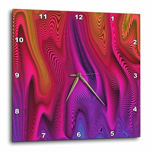 壁掛け時計 インテリア 海外モデル アメリカ 輸入 3D Rose Satin Abstract with Beautiful Magenta Red and Purple Highlights Wall Clock壁掛け時計 インテリア 海外モデル アメリカ 輸入