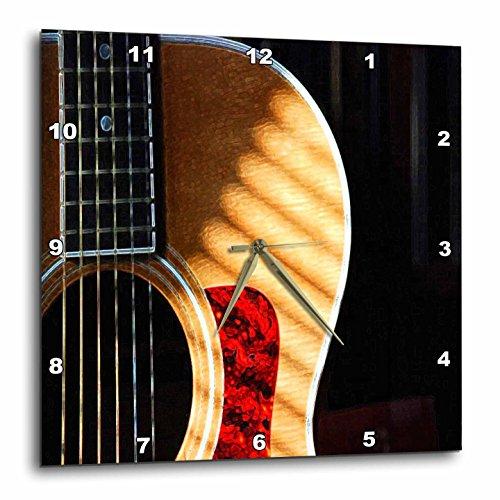 壁掛け時計 インテリア 海外モデル アメリカ 輸入 3dRose DPP_62245_3 Digitally Painted Acoustic Guitar in Shadow-Wall Clock, 15 by 15-Inch壁掛け時計 インテリア 海外モデル アメリカ 輸入
