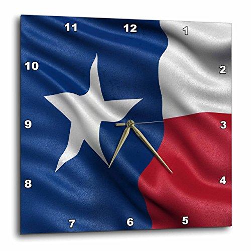 壁掛け時計 インテリア 海外モデル アメリカ 輸入 3dRose Texas State Flag - Wall Clock, 15 by 15
