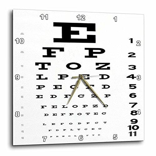 壁掛け時計 インテリア 海外モデル アメリカ 輸入 3dRose DPP_17146_3 Eye Chart Wall Clock, 15 by 15