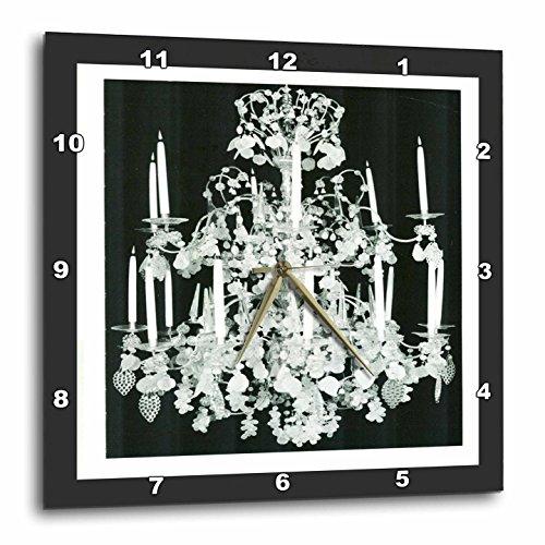 壁掛け時計 インテリア 海外モデル アメリカ 輸入 3dRose DPP_44857_3 1920S Chrystal Chandelier Wall Clock, 15 by 15