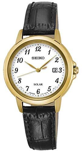 セイコー 腕時計 レディース 【送料無料】Seiko Womens Analogue Quartz Watch with Leather Strap SUT376P9セイコー 腕時計 レディース