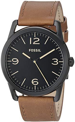 フォッシル 腕時計 メンズ 【送料無料】Fossil Men's ' Ledger Quartz Stainless Steel and Leather Watch, Color:Brown (Model: BQ2305)フォッシル 腕時計 メンズ