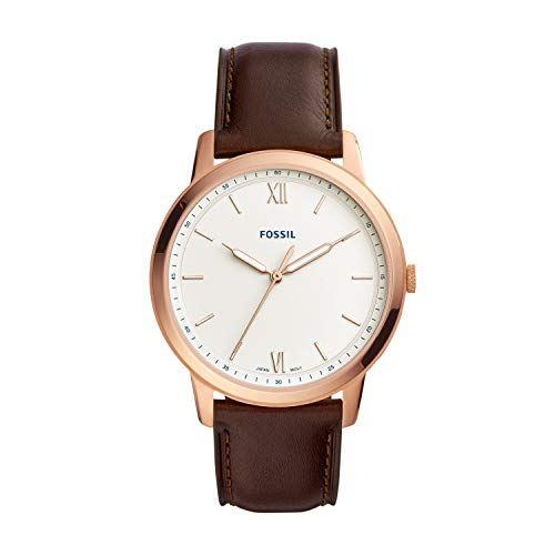 フォッシル 腕時計 メンズ 【送料無料】Fossil Men's The Minimalist 3H Stainless Steel Quartz Leather Strap, Brown, 22 Casual Watch (Model: FS5463)フォッシル 腕時計 メンズ