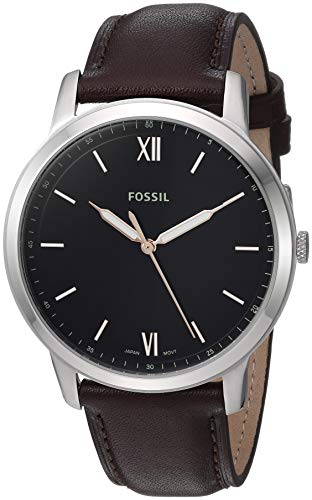 フォッシル 腕時計 メンズ 【送料無料】Fossil Men's The Minimalist 3H Stainless Steel Quartz Leather Strap, Brown, 22 Casual Watch (Model: FS5464)フォッシル 腕時計 メンズ