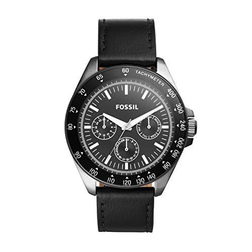 腕時計 フォッシル メンズ 【送料無料】Fossil Men's Neale Quartz Stainless Steel and Leather Chronograph Watch, Color: Black (Model: BQ2293)腕時計 フォッシル メンズ