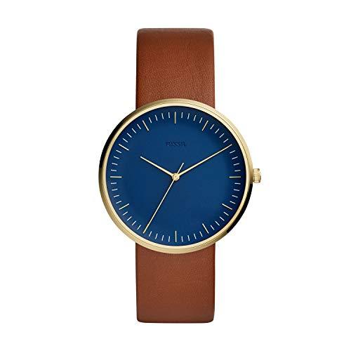 フォッシル 腕時計 メンズ 【送料無料】Fossil Men's The Essentialist Stainless Steel Quartz Leather Strap, Brown, 22 Casual Watch (Model: FS5473)フォッシル 腕時計 メンズ