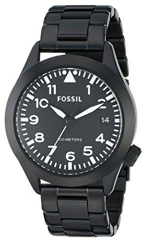 フォッシル 腕時計 メンズ 【送料無料】Fossil Men's AM4564 Recruiter Black Stainless Steel Bracelet Watchフォッシル 腕時計 メンズ