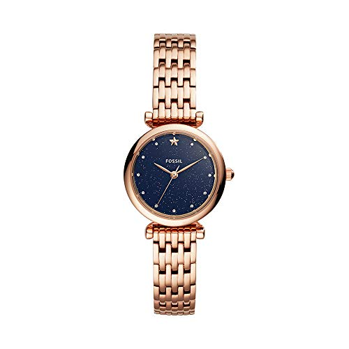 フォッシル 腕時計 レディース Fossil Women's Mini Carlie Stainless Steel Quartz Watch with Strap, Rose Gold, 12 (Model: ES4522)フォッシル 腕時計 レディース