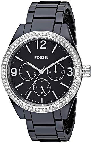 フォッシル 腕時計 レディース Fossil Women's ' Caleigh Quartz Resin Watch, Color:Black (Model: BQ3342)フォッシル 腕時計 レディース