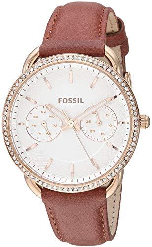 フォッシル 腕時計 レディース Fossil Women's Tailor Stainless Steel Quartz Leather Strap, Brown, 15.5 Casual Watch (Model: ES4422)フォッシル 腕時計 レディース