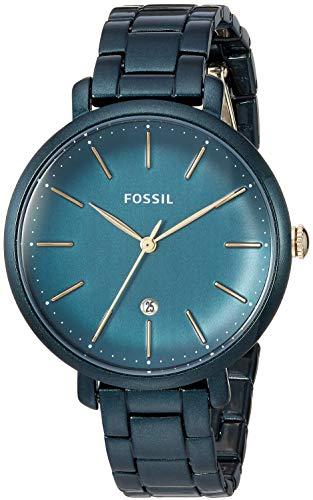 フォッシル 腕時計 レディース Fossil Women's Jacqueline Quartz Stainless-Steel-Plated Strap, Green, 14 Casual Watch (Model: ES4409)フォッシル 腕時計 レディース