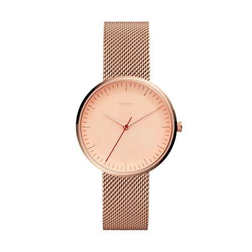 フォッシル 腕時計 レディース Fossil Women's The The Essentialist Quartz Stainless-Steel-Plated Strap, Rose Gold, 18 Casual Watch (Model: ES4425)フォッシル 腕時計 レディース