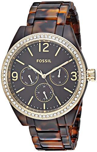 フォッシル 腕時計 レディース 【送料無料】Fossil Women's ' Caleigh Quartz Resin Watch, Color:Brown (Model: BQ3344)フォッシル 腕時計 レディース