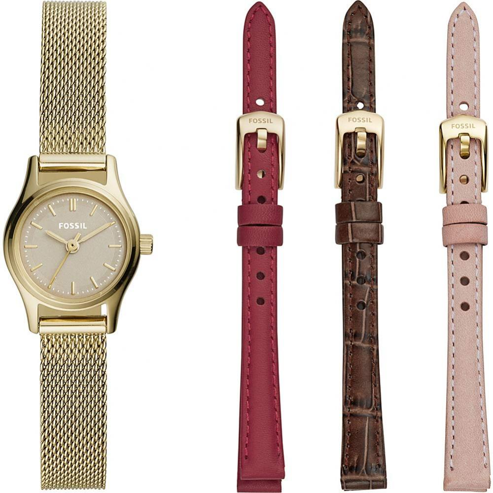 フォッシル 腕時計 レディース Fossil Women's Estate Mini Watch Set - LE1050 Gold One Sizeフォッシル 腕時計 レディース