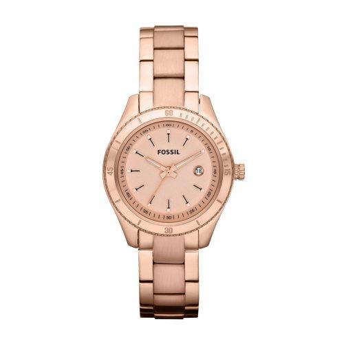 フォッシル 腕時計 レディース Fossil Women's ES3019 Stainless Steel Analog Rose Gold Dial Watchフォッシル 腕時計 レディース