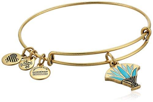 アレックスアンドアニ アメリカ アクセサリー ブランド かわいい 【送料無料】Alex and Ani Womens Blue Lotus EWB Bangle Bracelet, Rafaelian Gold, Expandableアレックスアンドアニ アメリカ アクセサリー ブランド かわいい