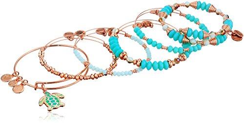 アレックスアンドアニ アメリカ アクセサリー ブランド かわいい Alex and Ani Women's Color Infusion, Go with The Flow, Set of 5 Bracelet, Shiny Rose, Expandableアレックスアンドアニ アメリカ アクセサリー ブランド かわいい