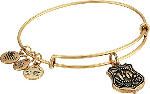 アレックスアンドアニ アメリカ アクセサリー ブランド かわいい 【送料無料】Alex and Ani Women's Law Enforcement Bangle Bracelet, Rafaelian Goldアレックスアンドアニ アメリカ アクセサリー ブランド かわいい