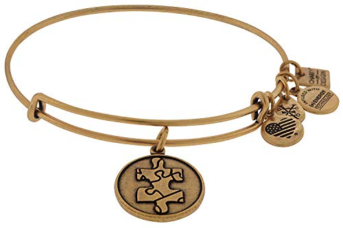 アレックスアンドアニ アメリカ アクセサリー ブランド かわいい Alex and Ani Women's Piece Of The Puzzle Charm Bangle Rafaelian Gold Finish Braceletアレックスアンドアニ アメリカ アクセサリー ブランド かわいい