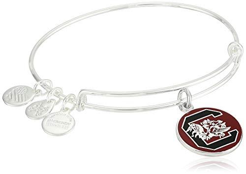 アレックスアンドアニ アメリカ アクセサリー ブランド かわいい Alex and Ani Women's Color Infusion University of South Carolina Logo II EWB Bracelet, Shiny Silver, Expandableアレックスアンドアニ アメリカ アクセサリー ブランド かわいい