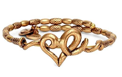 アレックスアンドアニ アメリカ アクセサリー ブランド かわいい Alex and Ani Heart Wrap Rafaelian Gold Finish Bracelet, VW357RGアレックスアンドアニ アメリカ アクセサリー ブランド かわいい