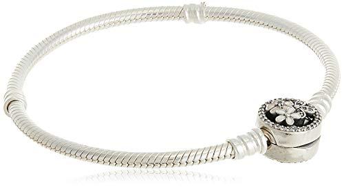 パンドラ ブレスレット アクセサリー ブランド かわいい Pandora Women's Moments Silver Bracelet with Poetic Blooms Clasp - 18 cm - 590744CZ-18パンドラ ブレスレット アクセサリー ブランド かわいい