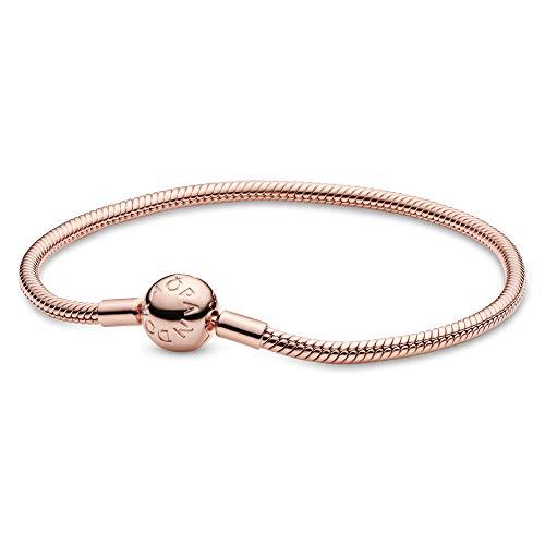 パンドラ ブレスレット アクセサリー ブランド かわいい PANDORA - Moments Snake Chain Charm Bracelet in PANDORA Shine, 7.9 IN / 20 CMパンドラ ブレスレット アクセサリー ブランド かわいい