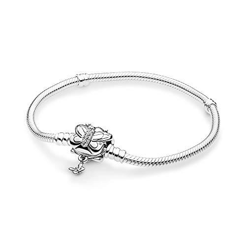 パンドラ ブレスレット アクセサリー ブランド かわいい PANDORA Decorative Butterfly 925 Sterling Silver Bracelet, Size: 19cm, 7.5 inches - 597929CZ-19パンドラ ブレスレット アクセサリー ブランド かわいい