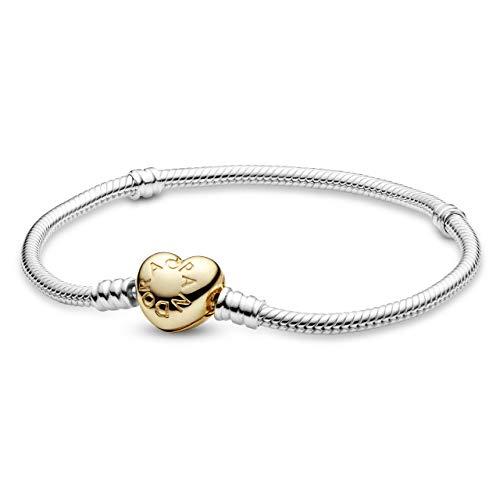 パンドラ ブレスレット アクセサリー ブランド かわいい Pandora Shine Heart Silver 7.1 inches Bracelet 560719-18パンドラ ブレスレット アクセサリー ブランド かわいい
