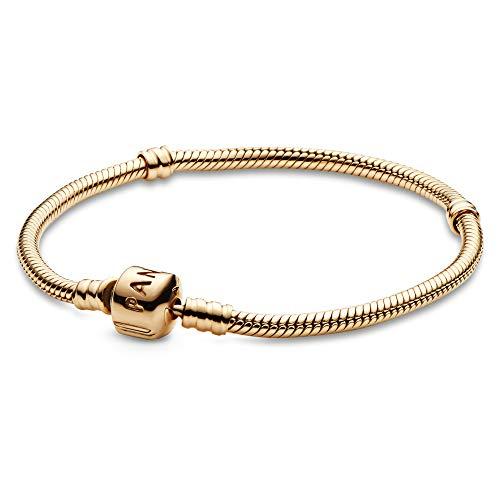 パンドラ ブレスレット アクセサリー ブランド かわいい 【送料無料】PANDORA Jewelry Moments Gold Clasp Charm Gold 14K Bracelet, 7.9