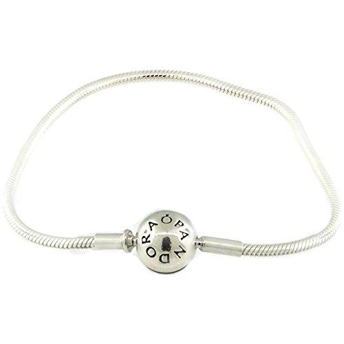 パンドラ ブレスレット アクセサリー ブランド かわいい PANDORA Essence Collection Barrel Clasp Bracelet In 925 Sterling Silver 596000-21, 8.3 Inchパンドラ ブレスレット アクセサリー ブランド かわいい