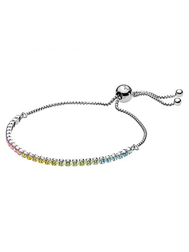 パンドラ ブレスレット アクセサリー ブランド かわいい PANDORA Multi-Color Sparkling Strand Bracelet, Multi-Colored CZ, 590524PCZMX-1パンドラ ブレスレット アクセサリー ブランド かわいい