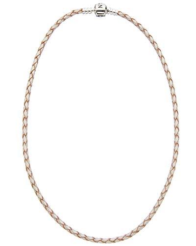 パンドラ ブレスレット アクセサリー ブランド かわいい 【送料無料】Pandora Pearl & Silver Woven Leather Bracelet 590705CPLD2パンドラ ブレスレット アクセサリー ブランド かわいい