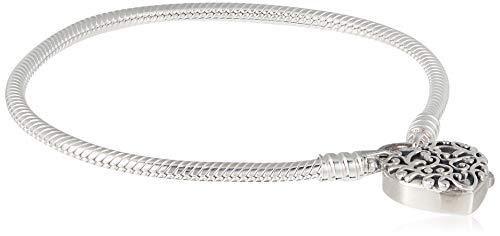 パンドラ ブレスレット アクセサリー ブランド かわいい Pandora Smooth Regal Heart Padlock Silver Bracelet 597602-17パンドラ ブレスレット アクセサリー ブランド かわいい