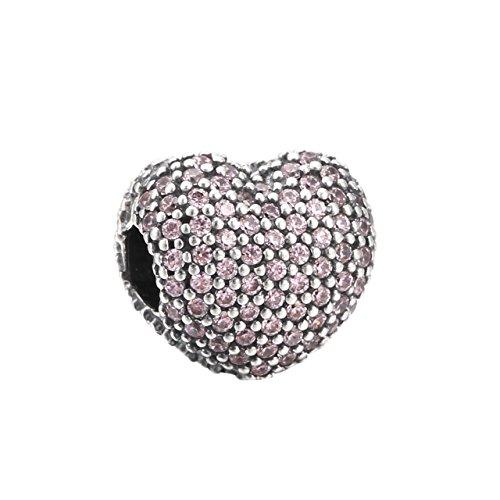 パンドラ ブレスレット アクセサリー ブランド かわいい Pandora Sterling Silver Open My Heart Clip Charm 791427PCZパンドラ ブレスレット アクセサリー ブランド かわいい