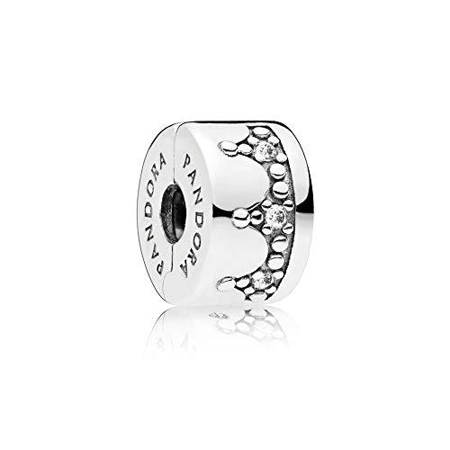 パンドラ ブレスレット アクセサリー ブランド かわいい 【送料無料】Pandora Jewelry Dazzling Crown Cubic Zirconia Charm in Sterling Silverパンドラ ブレスレット アクセサリー ブランド かわいい