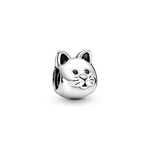 パンドラ ブレスレット アクセサリー ブランド かわいい PANDORA Curious Cat Charm, Sterling Silver, One Sizeパンドラ ブレスレット アクセサリー ブランド かわいい