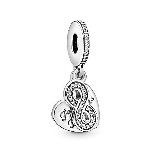 パンドラ ブレスレット アクセサリー ブランド かわいい 【送料無料】Pandora Jewelry Forever Friends Heart Dangle Cubic Zirconia Charm in Sterling Silverパンドラ ブレスレット アクセサリー ブランド かわいい