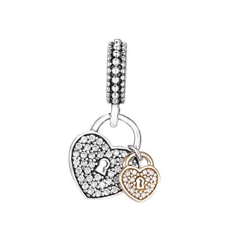 パンドラ ブレスレット アクセサリー ブランド かわいい Pandora Heart Padlock Silver Dangle Charm with Cubic Zirconia 791807CZパンドラ ブレスレット アクセサリー ブランド かわいい
