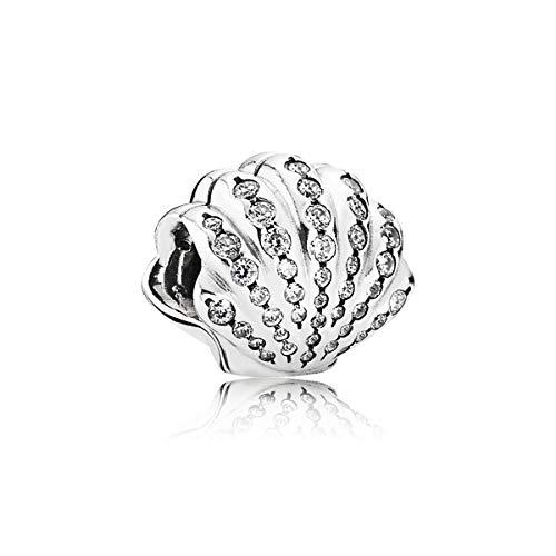 パンドラ ブレスレット アクセサリー ブランド かわいい Pandora Sterling Silver Disney, Ariel's Shell Charm 791574CZパンドラ ブレスレット アクセサリー ブランド かわいい