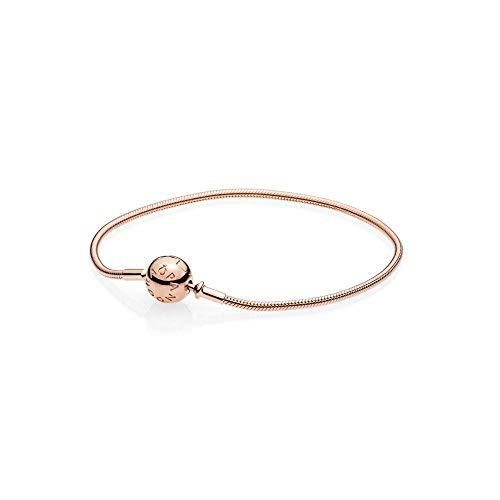 パンドラ ブレスレット アクセサリー ブランド かわいい PANDORA ESSENCE Snake Chain (Thinner) Bracelet, PANDORA Rose 586000-16 cm 6.3 inパンドラ ブレスレット アクセサリー ブランド かわいい